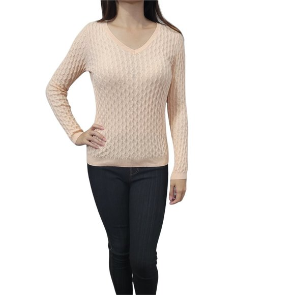 Sonoma Peach Long Sleeve Sweater Size Small